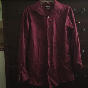 Maroon Kenneth Cole Reaction shirt